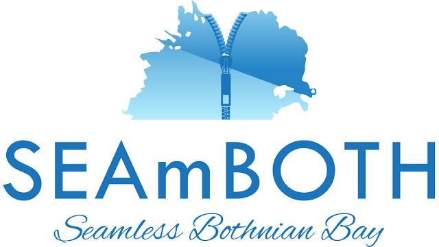 Logon englannin kielinen versio jossa seamboth tekstin alla lukee Seamless Bothnian Bay.