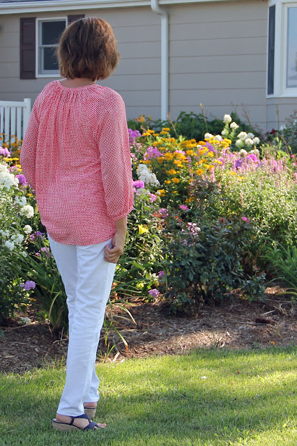 Indiesew Roscoe Blouse made from rayon challis
