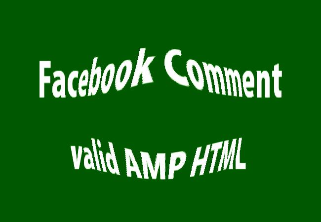 Cara Mudah Memasang Komentar Facebook Di Blog Valid AMP HTML