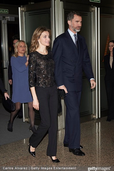 King Felipe VI of Spain and Queen Letizia of Spain attend a Tribute Concert for Terrorism Victims at the National Auditorium