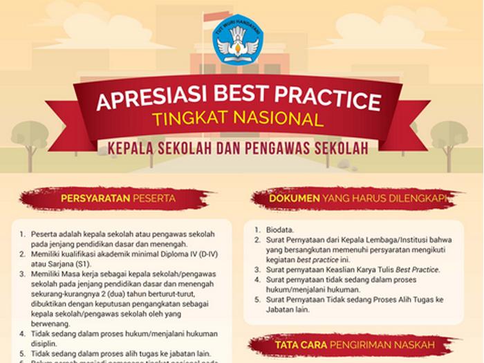 Apresiasi Best Practice Tingkat Nasional Kepala Sekolah dan Pengawas Sekolah 2017