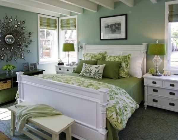 15 Fotos de Dormitorios Verdes  Ideas para decorar