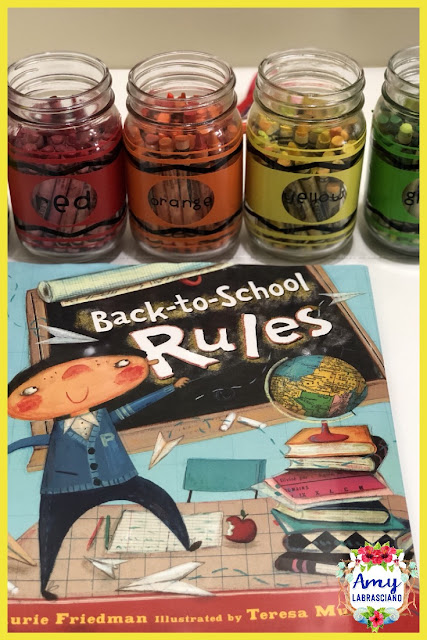 Click here to find ideas for creating classroom rules.  Included are ideas and  an anchor chart for the very engaging book Back To School Rules.  Get your back to school plans for standard RL.2.1 ready.   Perfect for elementary classrooms.  {kindergarten, first, second, third, fourth, fifth, k, 1st, 2nd, 3rd, 4th, 5th}