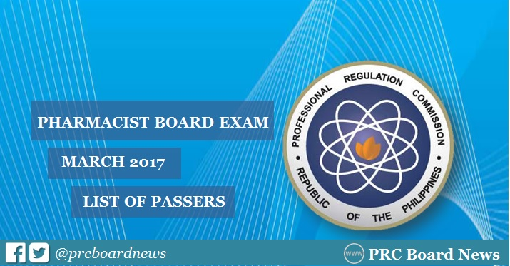 March 2017 Pharmacist board exam results release