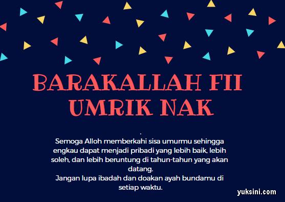 13 Ucapan Ulang Tahun Islami Terbaru Terlengkap Update