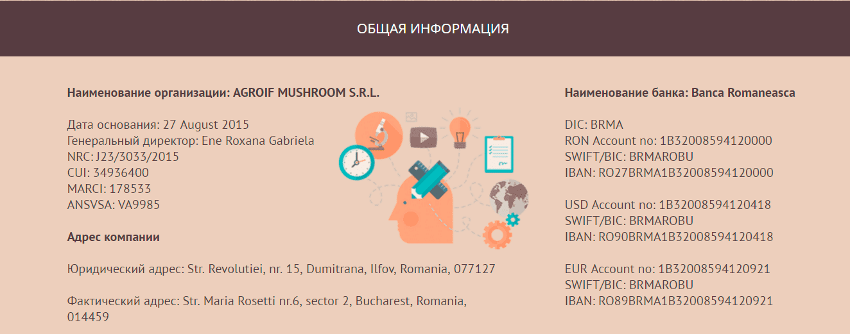 Контакты Agroif Mushroom 2