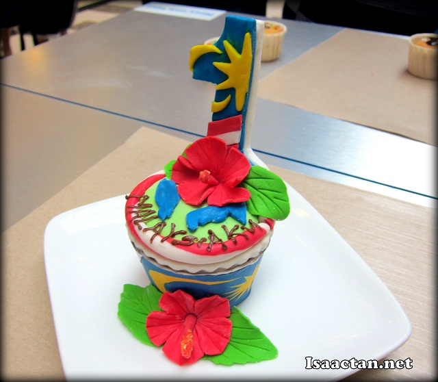 The winning Cupcake which was worth a cool RM10000 prize money