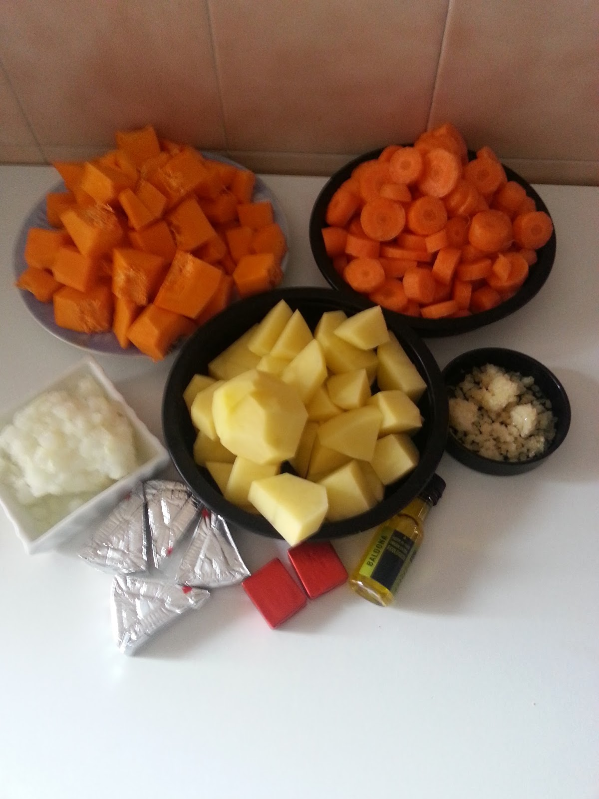 Cocinando con la family crema de calabaza y zanahoria en for Cocinar con olla gm