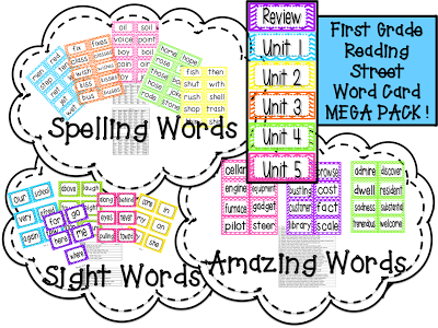 Primary Pals: First Grade Reading Street Word Cards
