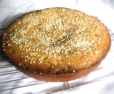 Greek Sesame Tahini Cake with Spelt and Mixed Dried Fruits