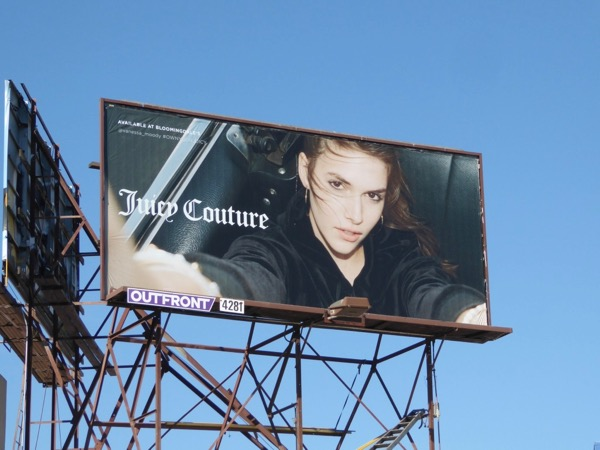 Juicy Couture selfie FW17 billboard