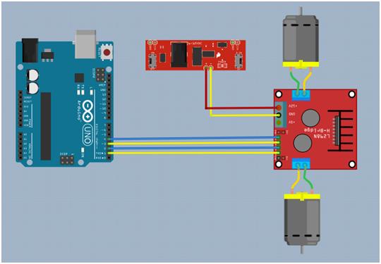 Rangkaian Membolak balikkan putaran motor DC 12 Volt dengan Arduino uno melalui driver L298N