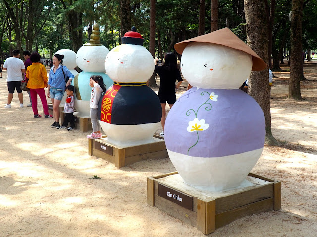 Snowman statues on Namiseom Island, Gapyeong, South Korea