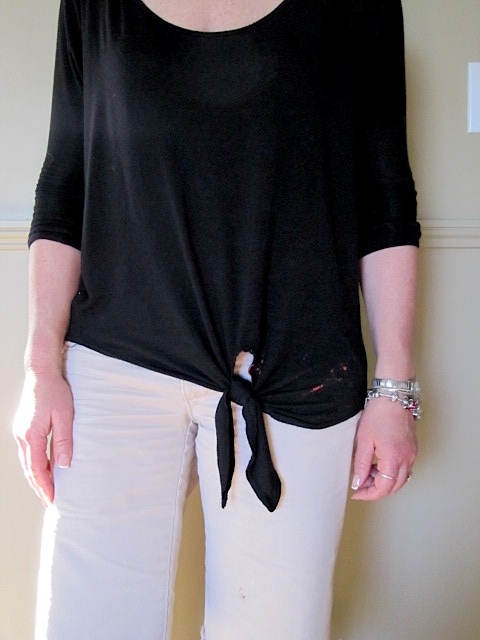 Sew Many Ways Thrifty Thursday Bleach Stain Repair