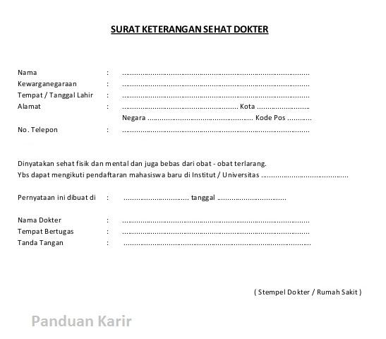 Tahapan Membuat Surat Keterangan Berbadan Sehat Panduan Karir