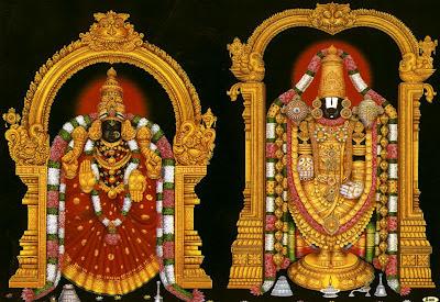 Picture of Tirupati Tirumala Venkateswara Swamy and Goddess Padmavathi