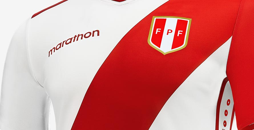 6c42d105881 Marathon Sports, an Ecuador-based brand, has taken over the Peru national  team contract from Umbro after the World Cup. Today, the new Peru 2018-2019  home ...