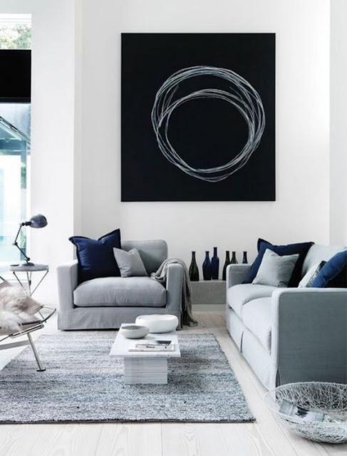 Salas y comedores modernos en negro y blanco salas y for Deco sala en blanco y negro