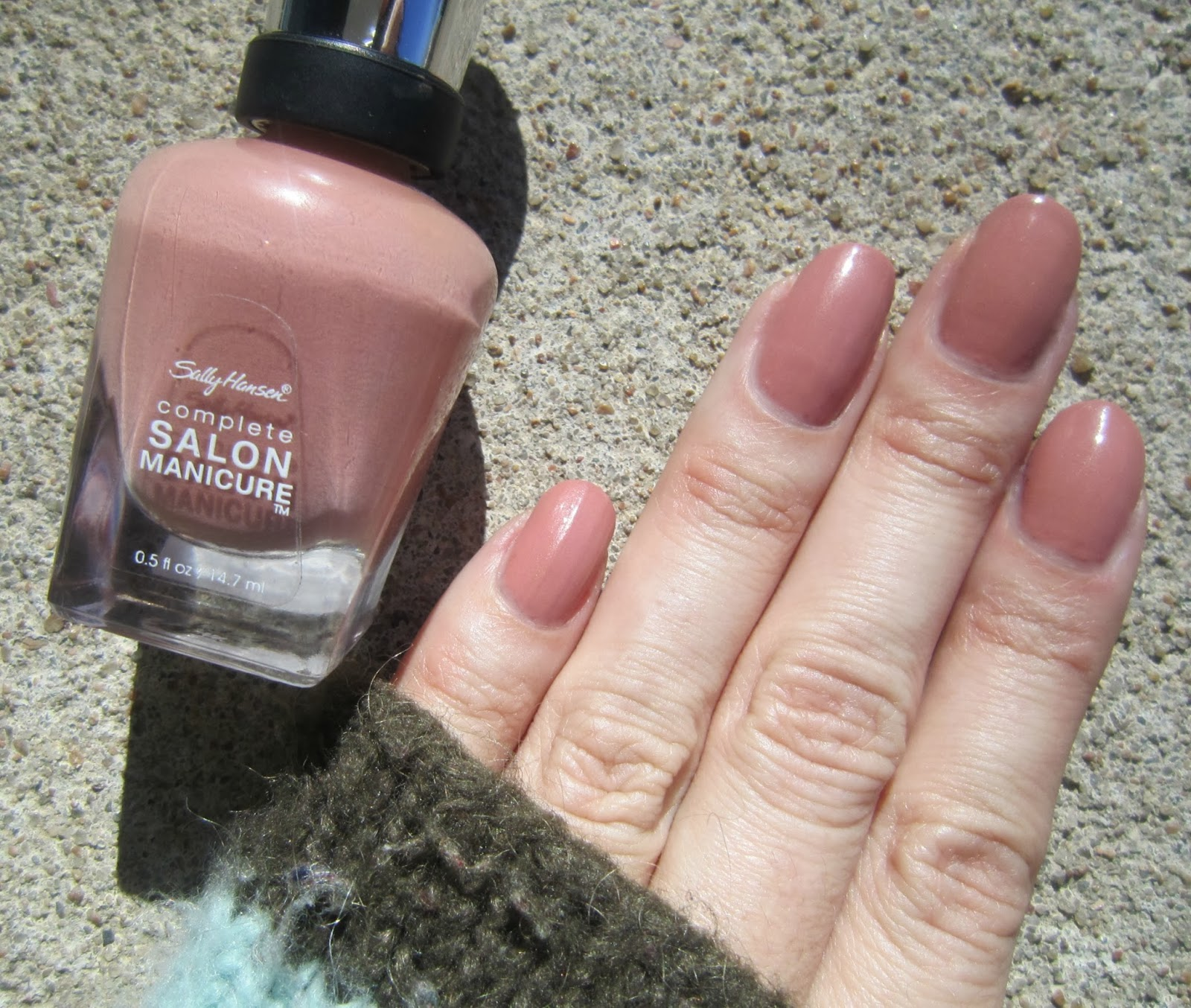 Concrete And Nail Polish Sally Hansen Mudslide