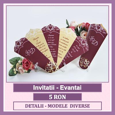 http://www.bebestudio11.com/2017/01/invitatii-nunta-evantai.html