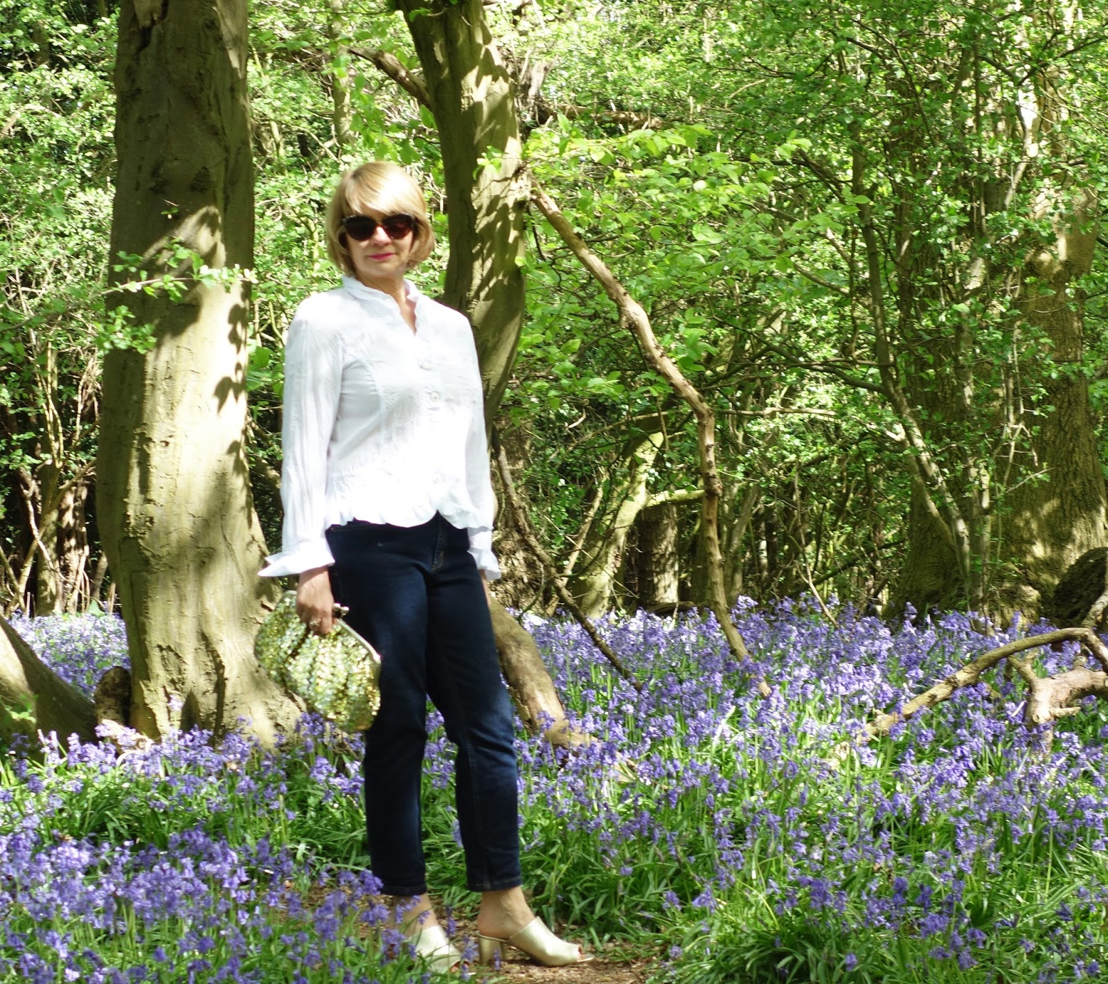 A walk in a bluebell wood as the backdrop for a fashion shoot with Gail Hanlon, blogger