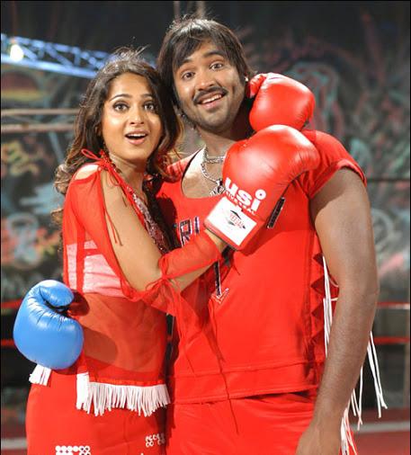 Anushka Shetty hot in red, Anushka Shetty in transparent dress