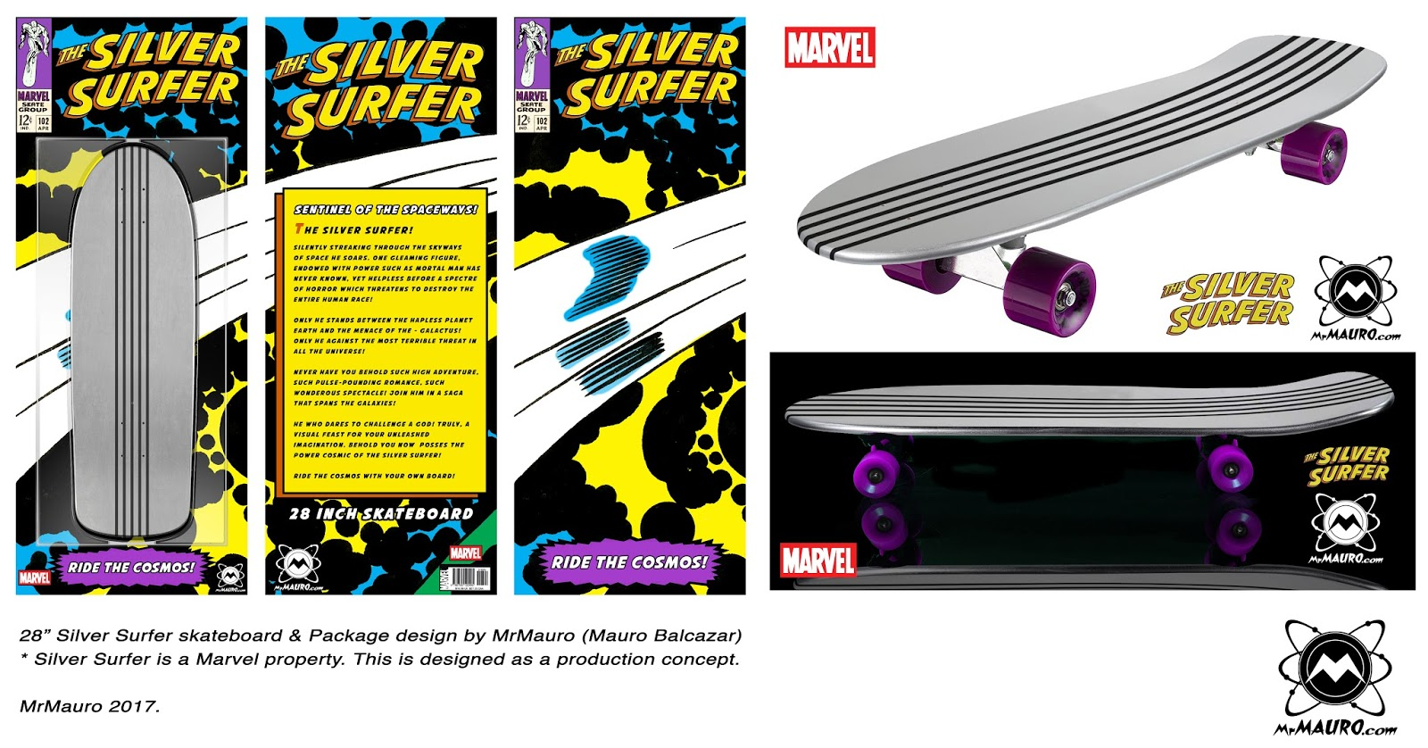 Mauro42: The Silver Surfer Skateboard!