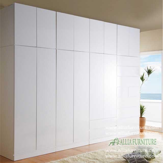 lemari baju minimalis unit tinggi ice