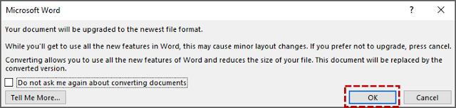 Menjaga Kompatibilitas dengan Versi Word Sebelumnya 3