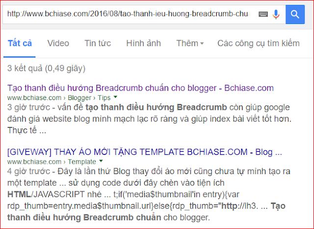 Tạo thanh điều hướng Breadcrumb chuẩn cho blogger -1
