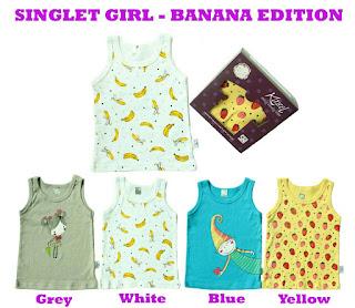 Kazel Singlet Girl Banana Edition Bayi Modern   Grosir