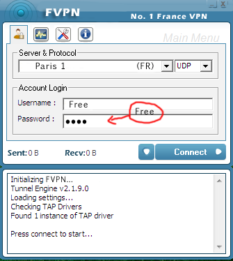 Free vpn connection france