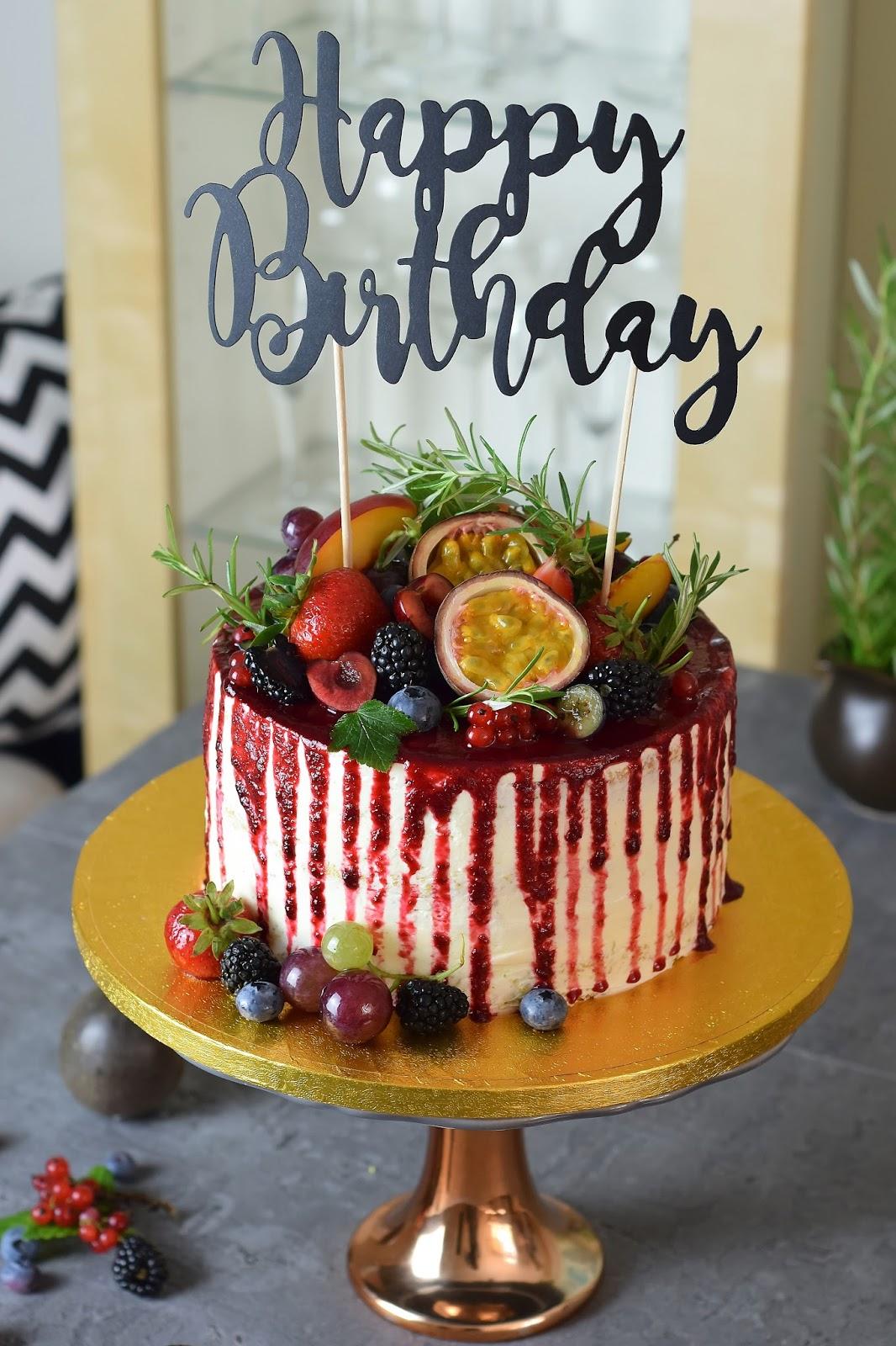 Drop Cake Ze świeżymi Owocami Kulinaria Zblogowani