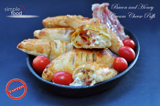 Bacon and Honey Cream Cheese Puffs ~ Simple Food