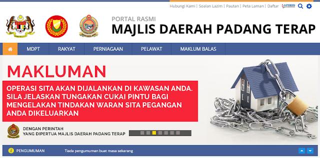 Rasmi - Jawatan Kosong di (MDPT) Majlis Daerah Padang Terap Terkini 2019