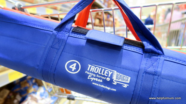 Trolley bags on trolley
