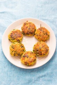 How to make vegan foxtail millet cutlet fritter or navane tikki at www.oneteaspoonoflife.com