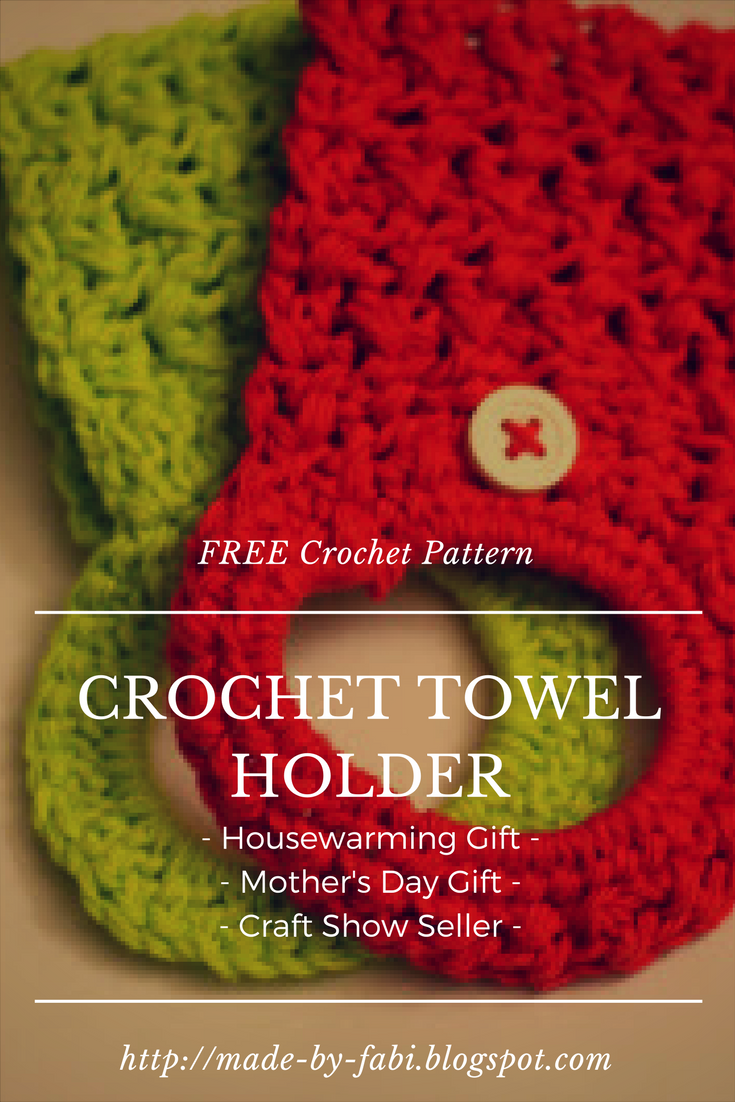 Crochet Towel Holder Ring Tutorial