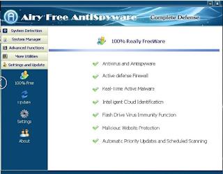 برنامج مكافحة الفيروسات للكمبيوتر Airy Free AntiSpyware