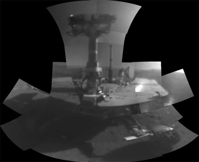 sonda Opportunity em Marte - selfie
