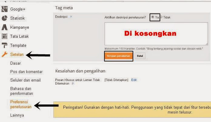 Cara Mengatasi Duplicate Meta Description Blogger