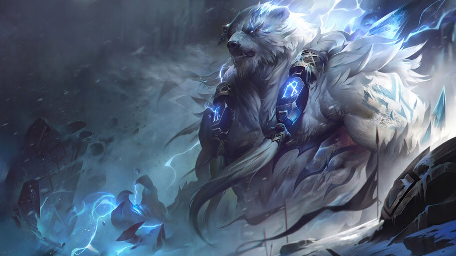 Volibear, Rework, New, Splash Art, 8K, #3.1872