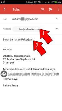 Cara Buat Cv Mengirim Lamaran Lewat Email Gmail Di Hp Android