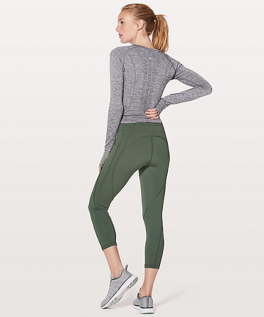 lululemon time-to-sweat-crop dark forest