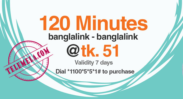 Banglalink 120 Minutes 51Tk Bundle offer