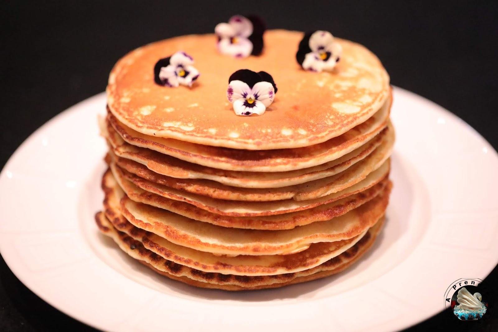 Pancakes sans gluten à la fleur d'oranger
