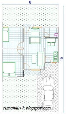 rumahku-1: denah desain rumah minimalis type 54/120