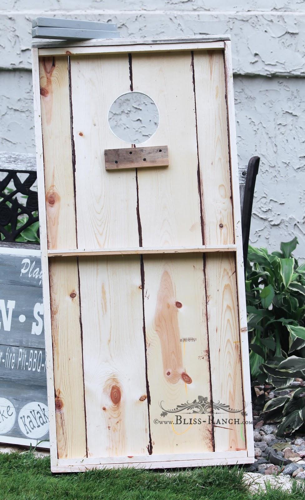 Bean Bag Toss Yard Game Bliss-Ranch.com #maisonblanchepaint  #paintedfurniture #ad