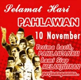 Gambar DP Selamat Hari Pahlawan 10 Nopember Merdeka Indonesia
