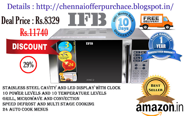 Ifb 20sc2 20 Litre 1200 Watt Convection Microwave Oven